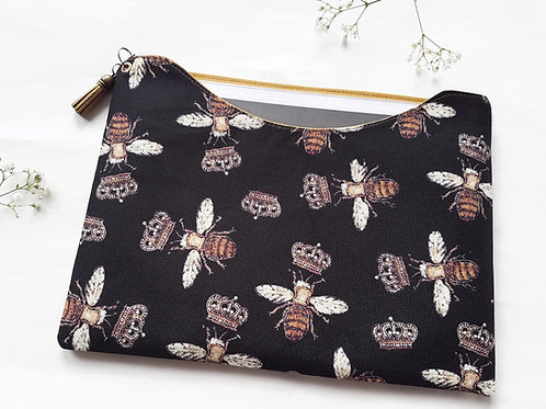 Custom iPad 9.7 inch sleeve,dust protector,gold bees,queen bees.