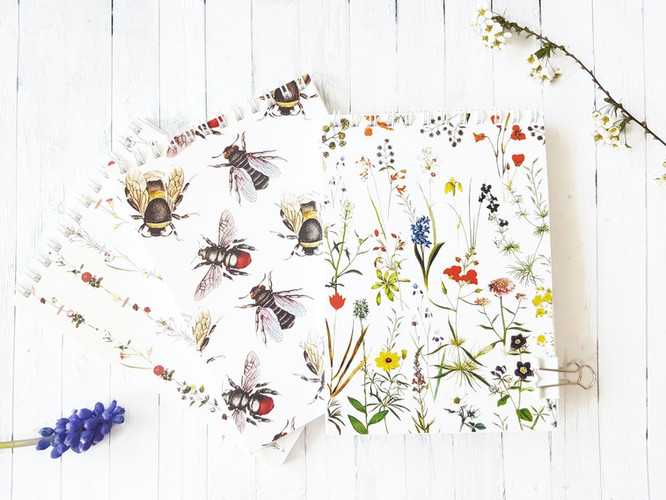 A6 Floral Notepads