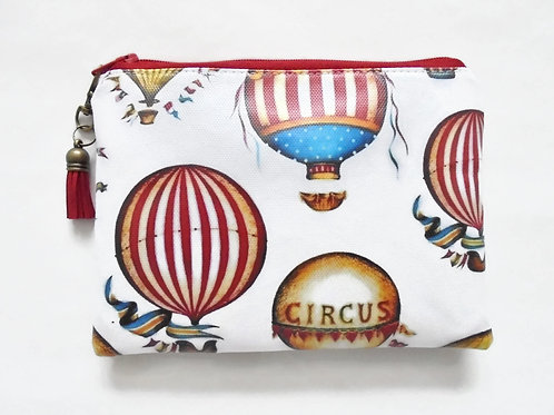 hot air balloon, carnival theme, waterproof wallet zipper pouch.