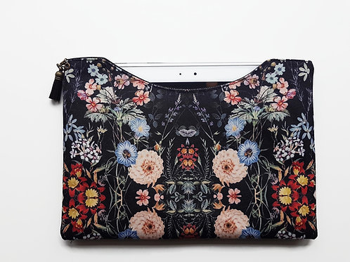 9.7 inch botanical sleeve,Dark Botanical dust sleeve,Dark florals