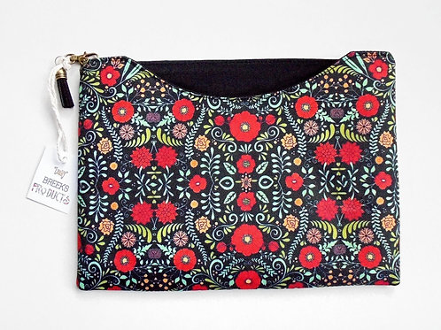 Made to measure iPad sleeve, Folky floral print,