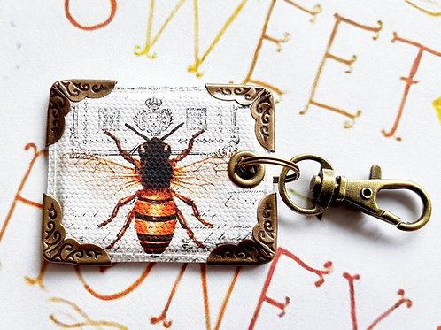 Bumble bee keyring,bag charm,key charm,keychain,lanyards,keyfobs
