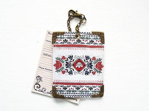 Folk primitive Luggage Tags,travel tags,bag tags.