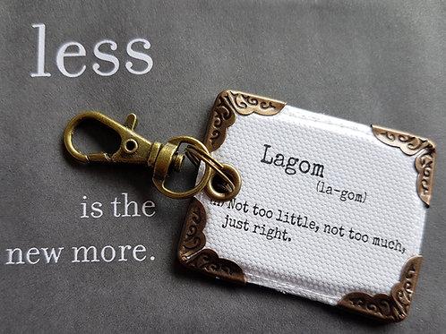 Lagom keyring, bag charm, bag tag.