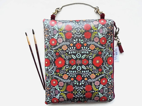 folk floral hanging bag,travel bag,overnight bag,waterproof pouch,eco friendly b