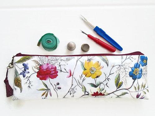 Pencil Case, Floral brush bag, crochet storage gifts