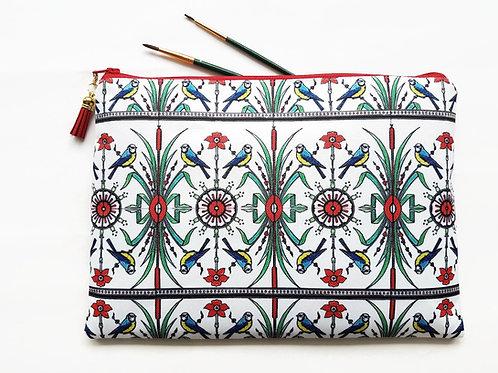 wash bag women,art nouveau,glasgow style,makeup bag,makeup brush holder,art bag