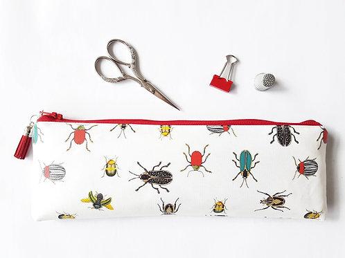 Beetles n bugs water resistant outer vegan XLong brush bag.