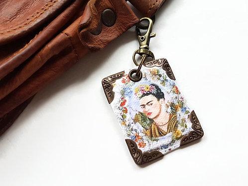 Frida Khalo keyring,bag charm, purse charm,bag tag,bag accessory,key chain,charm
