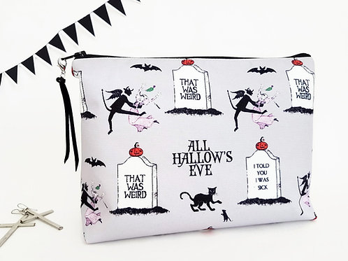 Canvas Halloweeen make-up bag.