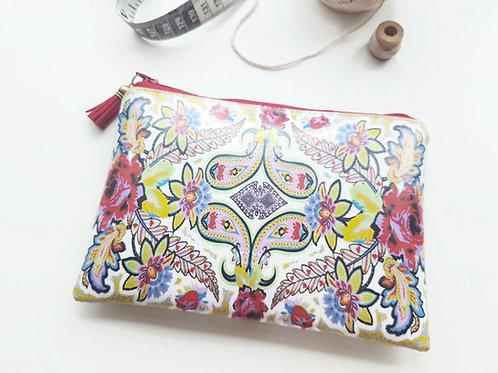 Paisley pattern vinyl wallet.