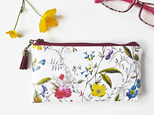 Antique botanical Phone sleeve,phone pouch,phone wallet,phone storage