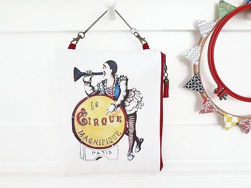 Hanging cirque make-up bag,vintage cactus hanging cosmetic vegan vinyl bag.