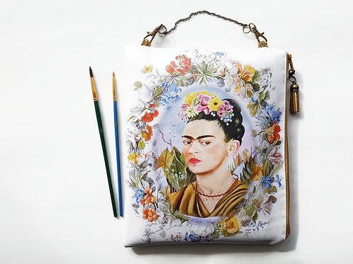 Frida Khalo,hanging storage,vegan bag,eco friendly pouch,eco friendly gift,