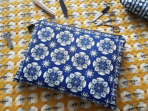 Antique Delhi Inspired, pocket bag, travel bag, cosmetic bag, zip bag