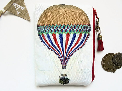 Colourful Hot air Balloon Pouch, steampunk bag, dark victorian, gothic