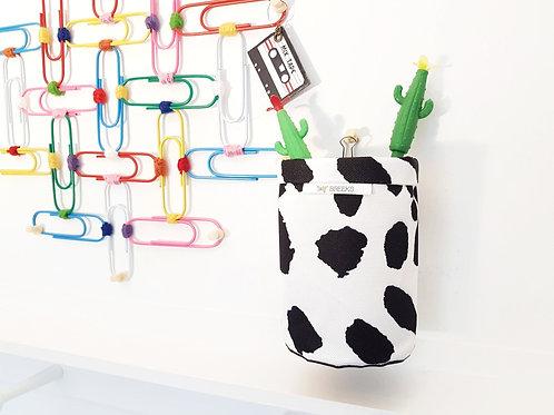 Dalmatian Pen caddy,brush caddy,storage pots,wall grid storage.
