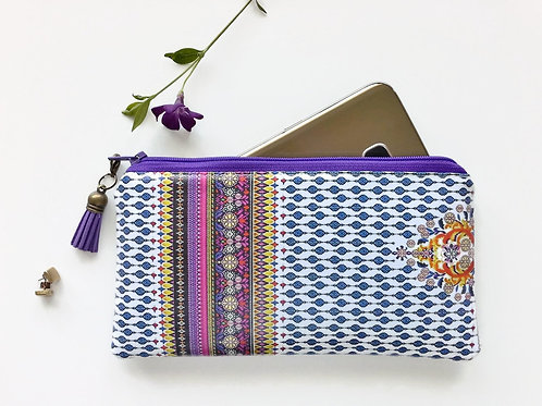 phone pouch,phone wallet,Indian,boho,gypsy fabric,