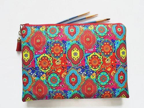 Gifts for her, Wash bag, colourful indian print, boho, pocket bag, travel bag