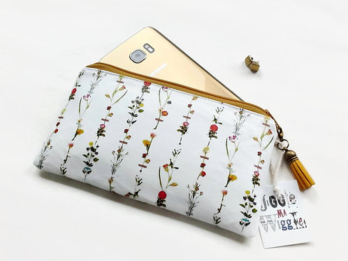 Phone sleeve,phone pouch,phone wallet,phone storage,botanical print,