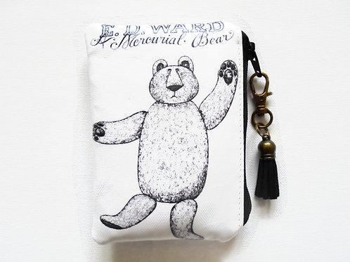 Edward Gorey, Mercurial Bear, Waterproof credit card wallet.