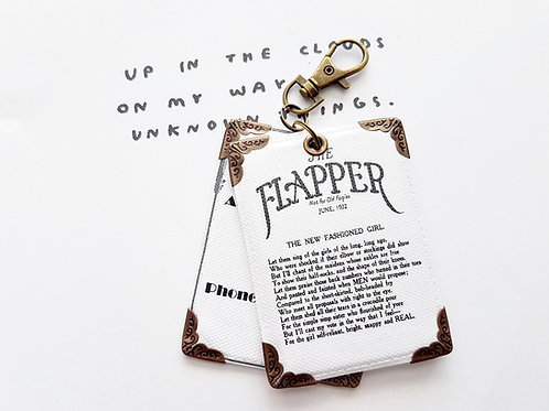Flapper poem, 1920s, flapper girl, Luggage Tags, travel tags.