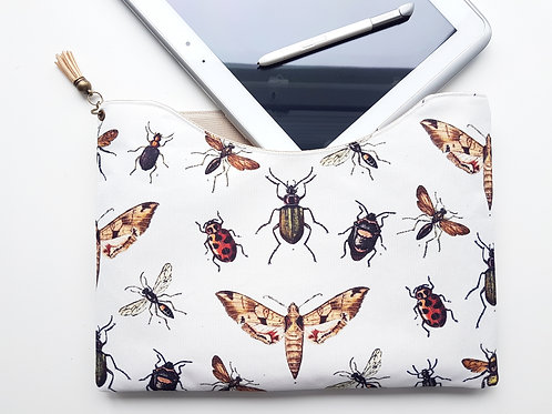 Custom iPad 9.7 inch sleeve,moths, beetles, bugs