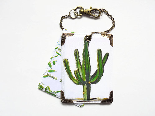 Cactus luggage tags, baggage tags, travel tags