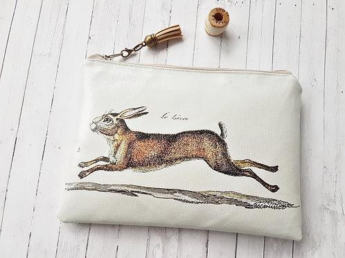 Hare print, vegan wallet.
