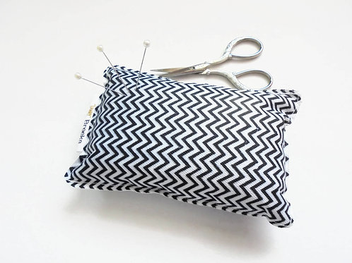 Sewing Gift, Chevron print, Pin cushion, seamstress gift, tailors gift, crafters