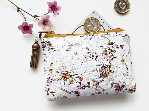 Antique chintz style card Wallet,novelty gifts,vegan leather pouch,vegan gift id