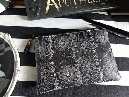 Halloween, gothic, alternative, spider web vegan wallet