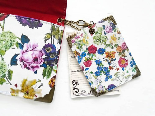 Botanical floral luggage tags, bag tags, ID tags.