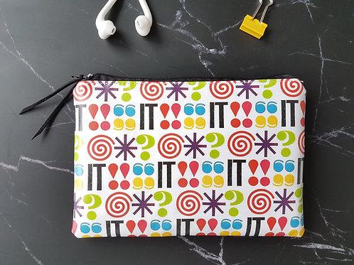 @#&! It vegan zipper wallet,colour pop pouch.
