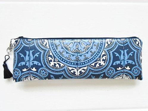 Mock tile print pencil pouch, zipper pencil case