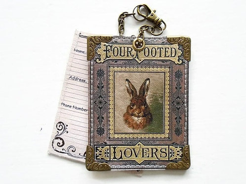 Hare, Rabbit vintage style Luggage Tags,travel tags,bag tags.