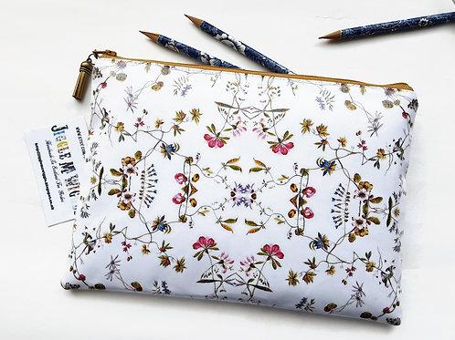 Large Ditzy floral Vegan Makeup Bag,Cosmetic Bag