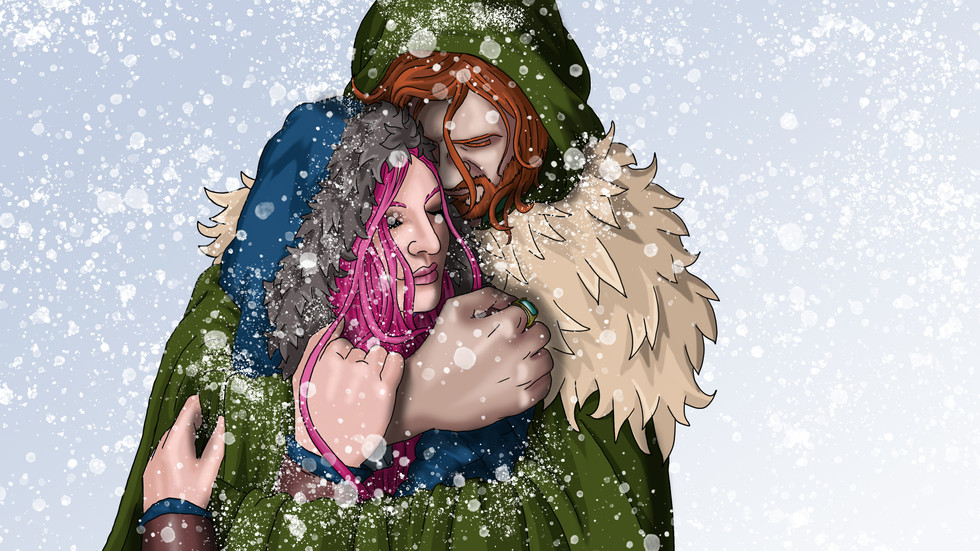 Fliss and Tristan in the Snow