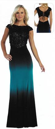 Flattering Ombre Long Dress