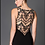 Thumbnail: Fitted Black Dress with Multi Colored Sequins