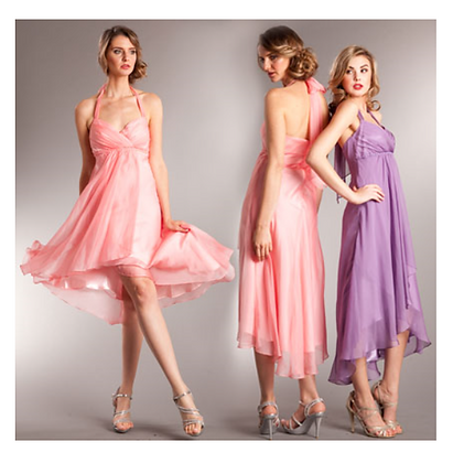 Chiffon Hi Lo Halter Dress