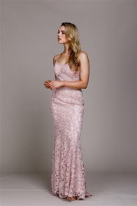 Open back corset dress in a high qulaity lace