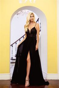 Black corset back dress