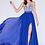 Thumbnail: Silver Beading on Royal Blue Chiffon Dress