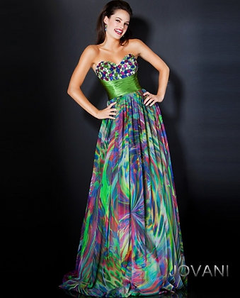 Multi Print Ball Gown by Jovani