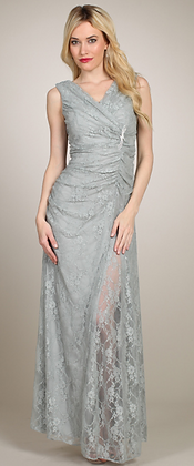Lace Surplice Gown