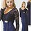 Thumbnail: Ruched Fitted Dress with Long Sleeves