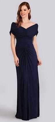 Simple Ruched V-Neck Dress