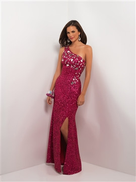 #9534 Fuchsia all sequin dress by Blush Prom - Sizes: XX - Small