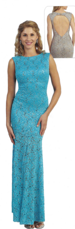#3989 Lace open back.  More colors at our store!